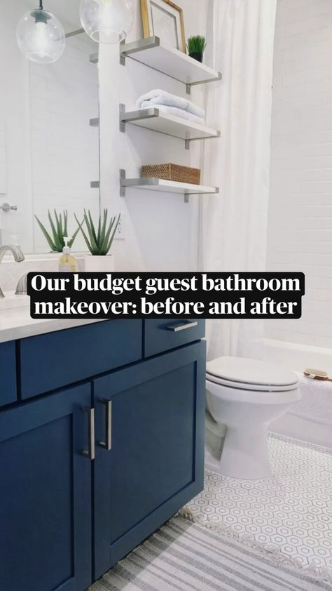 Our Budget Bathroom Makeover: Before and After