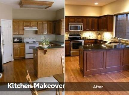 Kitchen Makeover Before And After On A Budget Glazed Kitchen Cabinets Kitchen Cabinets Before And After Painting Kitchen Cabinets