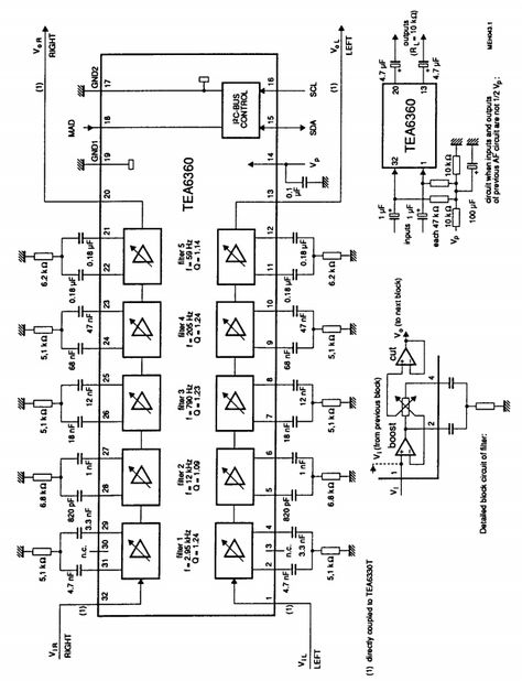 Five Band Graphic Equalizer circuit | Amplifier Circuits ...  Band Equalizer Circuit Diagram on