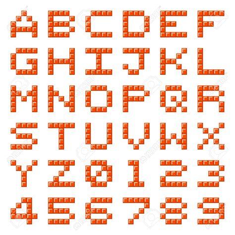 Stock Photo Lettres Alphabet Pixel Art Lettre Et Pixel