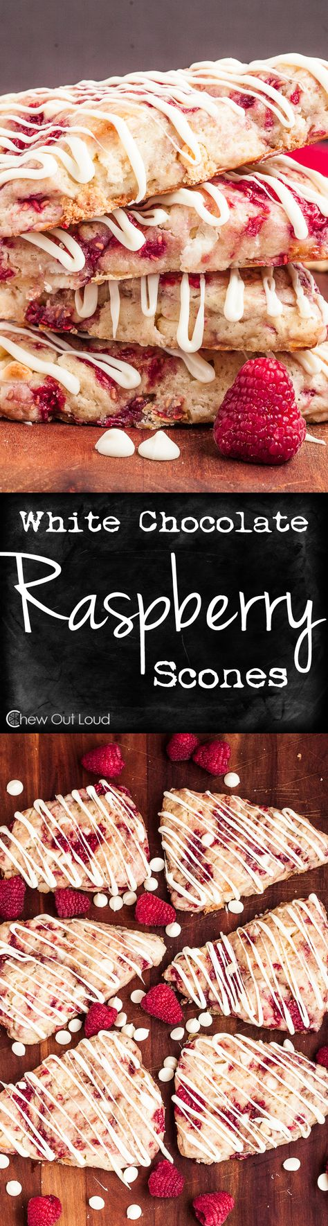 These White Chocolate Raspberry Scones are superior in moistness, deliciously tender, and full of flavor. They're easy to make, and dough can be made ahead of time. #breakfast #brunch #recipe