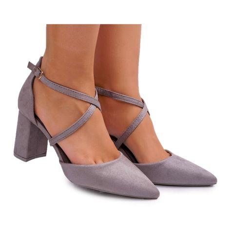 Sea Sandaly Damskie Na Slupku Wiazane Zamszowe Czarne Amore Heels Shoes Sandals
