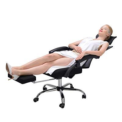 High Back Desk Chair Racing Style With Lumbar Support Height