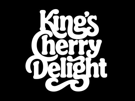 King's Cherry Delight designed by Simon Walker. Connect with them on Dribbble; Simon Walker, Types Of Lettering, Lettering Design, Typography Letters, Typography Logo, Typography Inspiration, Graphic Design Inspiration, Logos Illustrator, Illustrator Tutorials