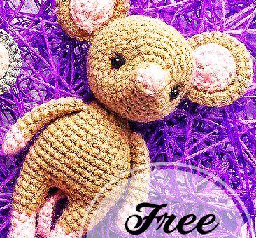 Amigurumi Catnip Mouse Free Pattern and Video | 340x366