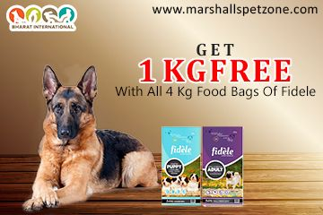 Get 1 Kg Free With All 4 Kg Food Bags Of Fidele Dog Food Online