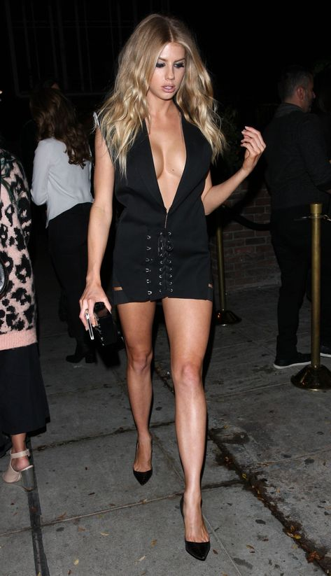 Charlotte McKinney in a Romper After the GQ Men of the Year 2016 Awards in West Hollywood