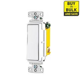 Hubbell 5 Pack 15 Amp 3 Way Rocker Indoor Light Switch Light Switch Indoor Lighting Light