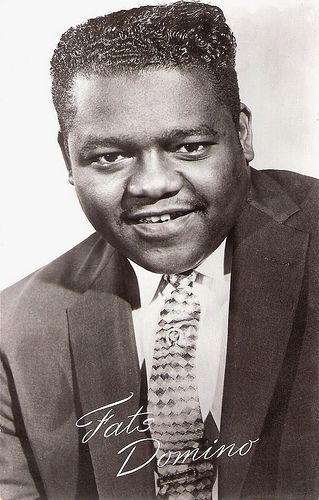 Fats Domino was active during the His music was extremely popular, more so than many think. Second only to Elvis Presley (in terms of record sales), Fats records were actually among the most popular in the early stages of rock music. 50s Music, Music Icon, Soul Music, Indie Music, Jazz Music, Rock And Roll, Elvis Presley, Afro, Old School Music