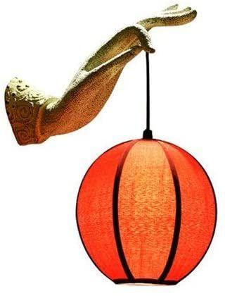 Berlato Creative New Chinese Style Resin Buddha Hand Wall Lamp