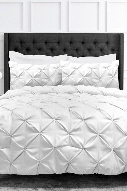 Ienjoy Home Park Hotel Pinch Pleat Full Queen Duvet Cover 3 Piece Set White Nordstrom Rack Queen Duvet Covers California King Size Bed Queen Duvet