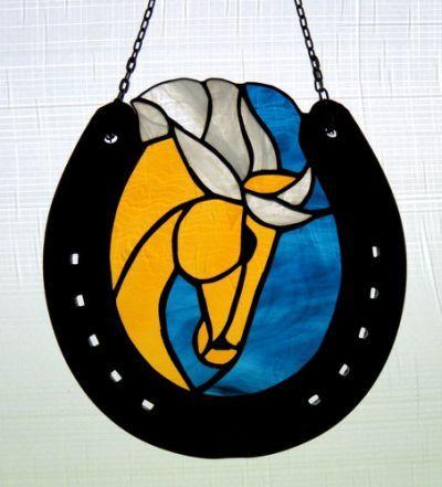 Stained Glass Horseshoe
