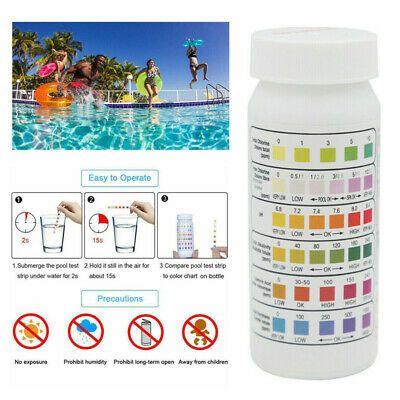 50pcs Water Ph Test Strips 6 In1 Swimming Pool Spa Chlorine Alkalinity Tester In 2020 Spa Pool Clorox Pool And Spa Swimming Pool Spa