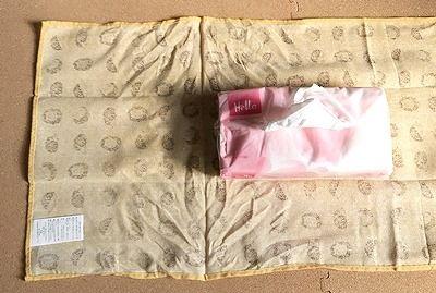 かんたんおしゃれ 100均手作り 縫わないティッシュカバー作り方 知恵の小袋 ティッシュカバー 作り方 100均 手作り ティッシュカバー