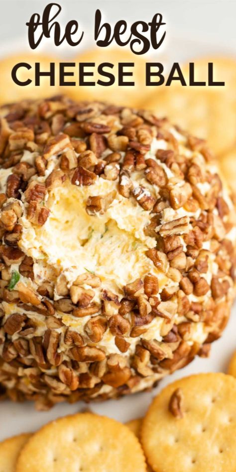 Holiday Cheese Ball The best easy to make cheese ball recipe for all of your holiday events! The perfect appetizer for Thanksgiving and Christmas parties. Everyone will love this classic recipe! Thanksgiving Appetizers, Thanksgiving Recipes, Holiday Recipes, Easy Christmas Appetizers, Vintage Thanksgiving, Party Recipes, Yummy Appetizers, Appetizer Recipes, Appetizers With Cream Cheese