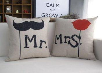 Cuscini Mr Mrs.Dekor Dlya Par 15 Charivnih Idej Cuscini Cucire Cuscini Fodere