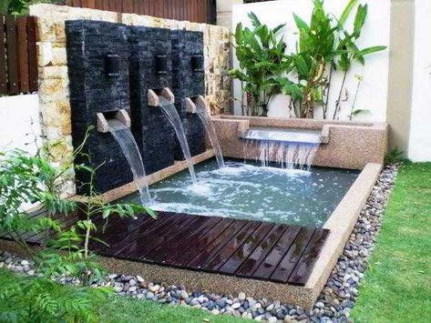 ⊕ 35+ taman minimalis dengan kolam ikan terbaik di depan