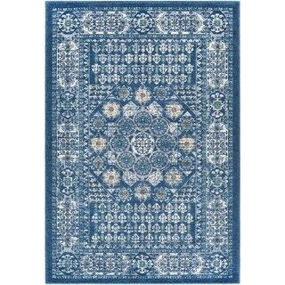 Faalde Blue Accent Rug 2 X 3 2 X 3 Navy Traditional Area Rugs Rugs Area Rugs
