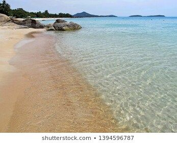 Beautiful Sea Beach With Wave On The Sand At Samui Island Thailand Nature Background Concept Background Bay Beach Beat In 2020 Samui Island Beach Beach Waves