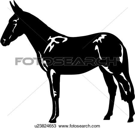 9be497775ce Image result for mule head clipart | mule clipart | Horses, Clip art ...