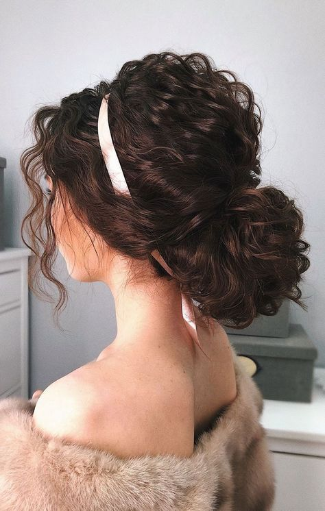 Here are surprisingly simple yet super-chic hairstyles for the girl/bride to be who just can't be bothered. From The Twisted Bun,The Swept updo, The... #curlyhairstyles
