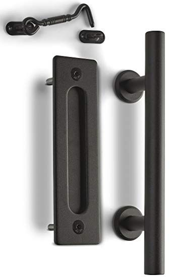 Caldwell Co Sliding Barn Door Handle Pull Kit With Flush Mount
