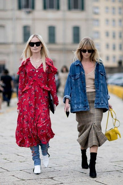 All the best street style from the Milan Fashion Week Spring 2017 shows, including outfit inspiration from outside Gucci, Prada, Moschino, and more.