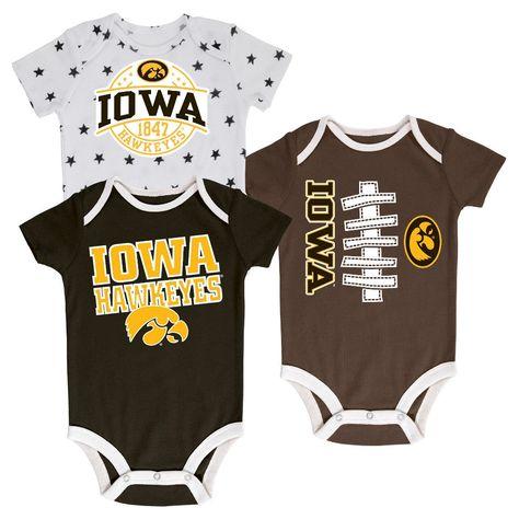NEW Iowa Hawkeyes Infant Lot Of 3 Baby Bib Bibs Newborn  NCAA Football College