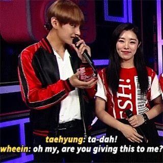 The only Wheein ship i will tolerate #taehyung #wheein #jungwheein #btsv #bts #mamamoo #mamamoowheein #taein #powercouple #ship #otp #btsarmy #moomoos #korea #kpop #camilizers #mixers #cutecouple #cute