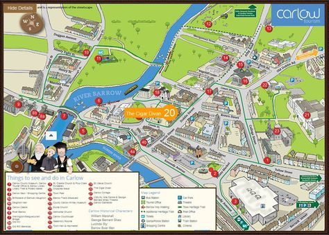 Carlow Town Map County Carlow Ireland Genealogy Pinterest