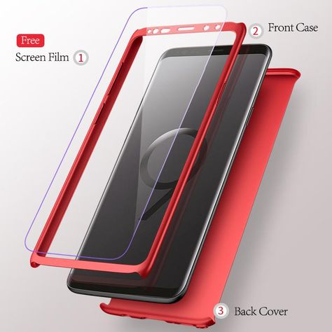 360 Degree Full Protection Ultra Slim Case For Samsung S9 S9 Plus S8 S8 Plus And Note 8 In 2021 Samsung Wallpaper Samsung Samsung Galaxy Phones