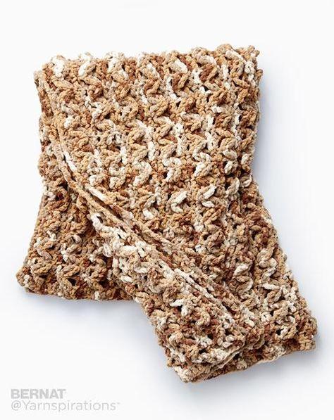 Free Crochet Pattern Bernat Wavy Ridge Blanket Chunky Crochet