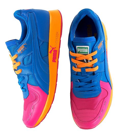 on sale ea919 ea0bf Puma RS 100. Prismatron. Pink, Blue, Pink, Orange.... I got theses joints