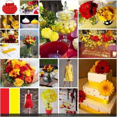 Red And Yellow Wedding Ideas Oh My I Might Like This More Than Grey Pinterest