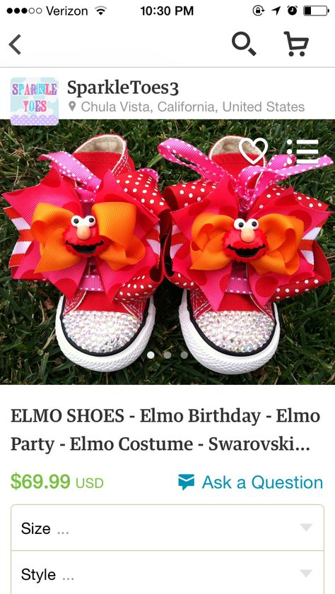 8dcd6106 Items similar to Red Elmo birthday outfit -1st 2nd birthday elmo ...