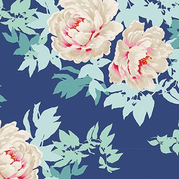 Beach Peony Lime 100028 100/% Cotton Patchwork Quilting Tilda Sunkiss