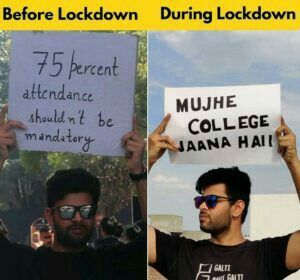 Collage Student Before Lockdown Vs During Lockdown Exam Quotes Funny College Quotes Funny Fun Quotes Funny