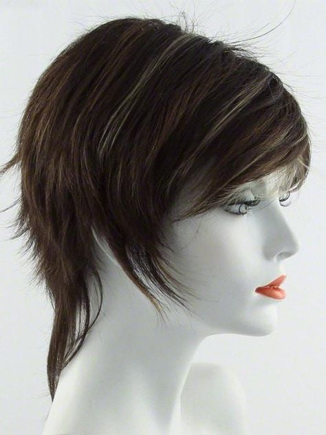CHOCOLATE SWIRL   Dark Brown Base Evenly Blended with Light Auburn and Honey Blonde