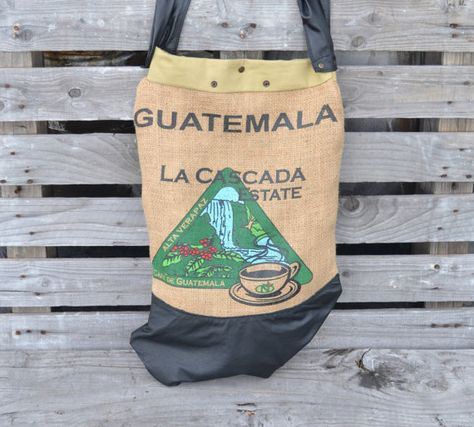 Burlap and Leather Tote Bag  Oversized Leather Tote by Liquidshiva, $82.00