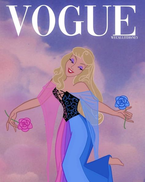 (#16) Aurora | This Artist Gave Disney Princesses Their Own Vogue Covers, and the Headlines Are Pure Gold