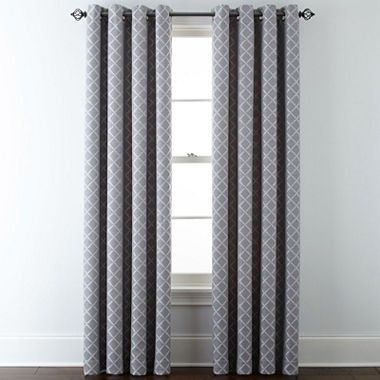 Jcpenney Home Quinn Lattice Grommet Top Curtain Panel 120 In Upstairs Guest Grommet Top Curtains Panel Curtains Drapes Curtains