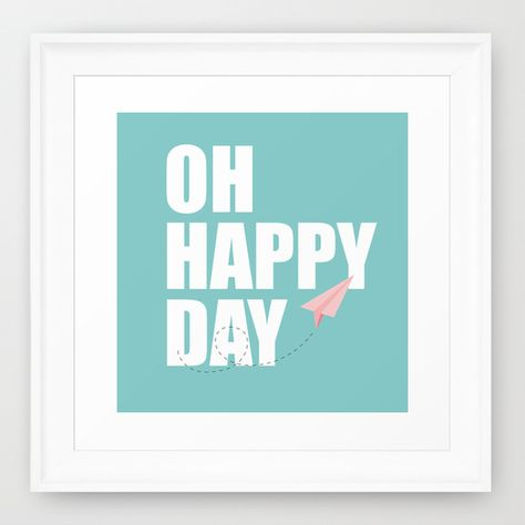 Oh, happy Day Framed Art Print