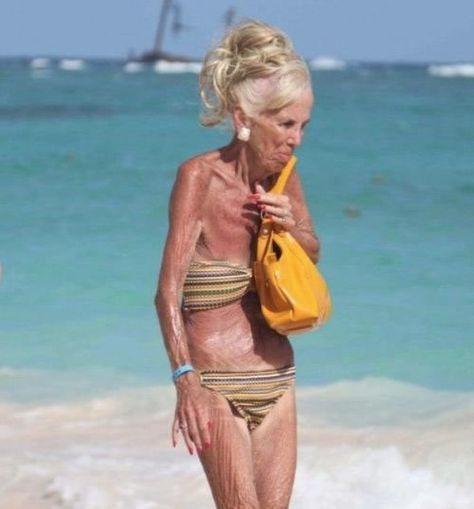 Suntan in a Bikini - You Are Never Too Old for Sunscreen