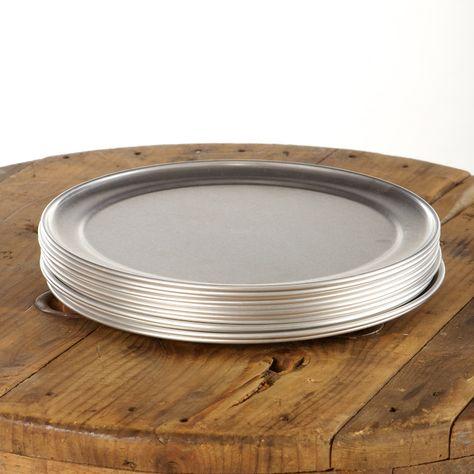 Vintage aluminum outdoor plate