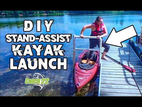 This video is about the Stand-assist Kayak Launch built by my father-in-law at the family lake. A simple, but effective design that can be tweaked to meet yo. Kayak Camping, Canoe And Kayak, Kayak Fishing, Kayaking Quotes, Kayaking Tips, Kayak Decals, Kayak Stand, Kayak For Beginners, Kayak Cart