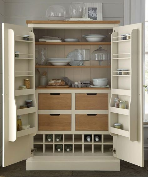 If you need more room for keeping food or crockery, a gorgeous larder unit is the ideal solution. If you need more room for keeping food or crockery, a gorgeous larder unit is the ideal solution.