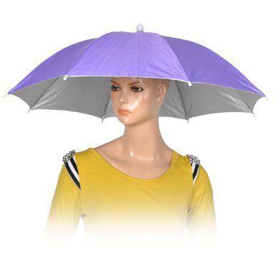 Amazon Com Como Fishing Camping Hands Free Light Purple Polyester Umbrella Hat Cap Sports Outdoors Fishingumbrel Fishing Umbrella Umbrella Free Baby Stuff