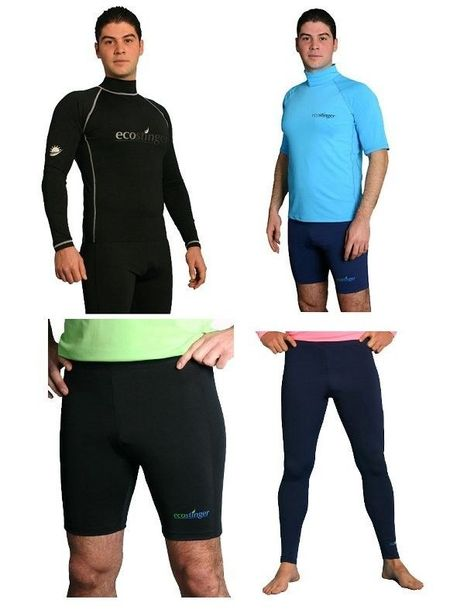b87aeda3a1b Mens UV Sun Protection Swimwear Clothing Rash Guards / Shorts / Surf Tights  #EcoStinger #RashguardShortsSurfTights