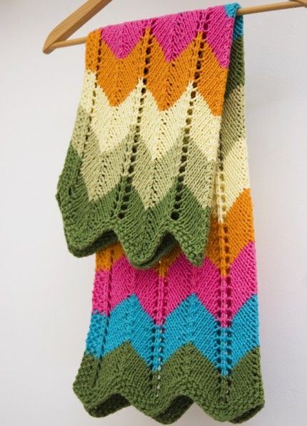 Zig zag knitted blanket pattern video zig zag blanket and babies dt1010fo