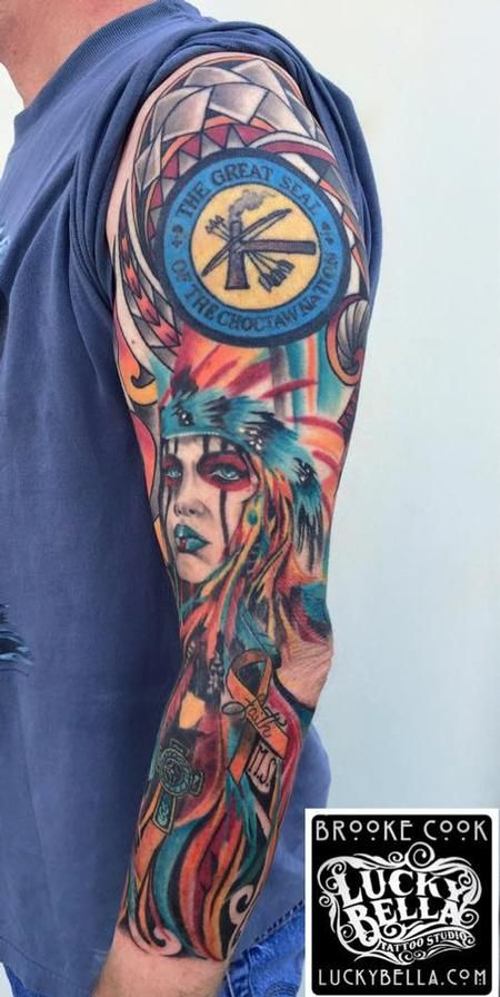Ryan and Brooke Cook Tattoos : Tattoos : Brooke Cook : Choctaw Girl